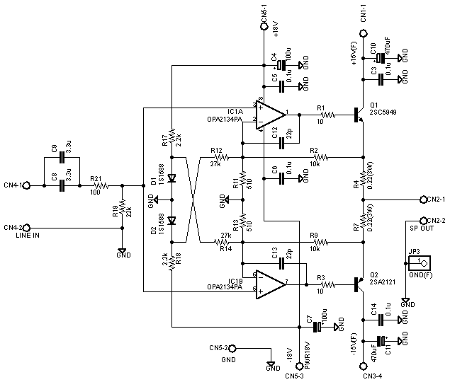 a simple 10w direct-coupled class-a power amplifier
